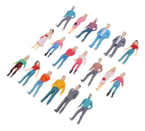 Diseño modelo personas figura tren ho pintado 1/50 para la