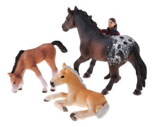 Mini animales de granja modelo de juguete simulación escena