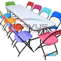 Venta de sillas y mesas para fiestas infantiles