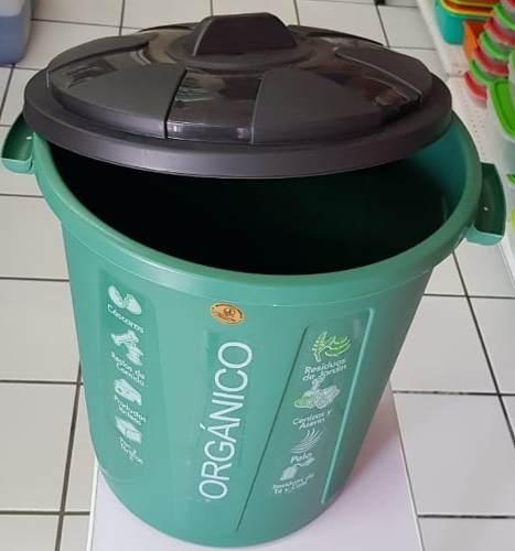 Cesto, Bote De Basura 55 Lts Verde Codigo Organico