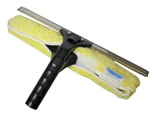 Jalador y cepillo backflip para vidrios 35 cm acero ettore