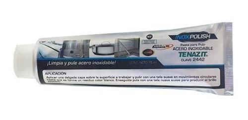 Pasta para pulir acero inox 75 ml tenazit austromex 2442
