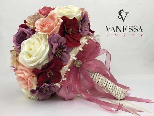 Ramo bouquet novia xv años artesanalmente
