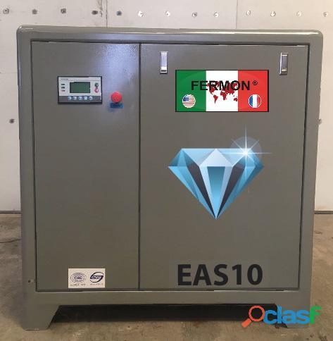 Compresor de tornillo de 10 hp marca fermon 220/440v serie diamante