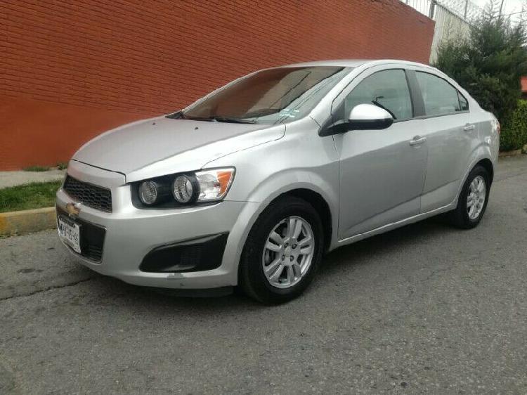Chevrolet sonic lt, mod. 2014, color plata. ¡¡precioso,