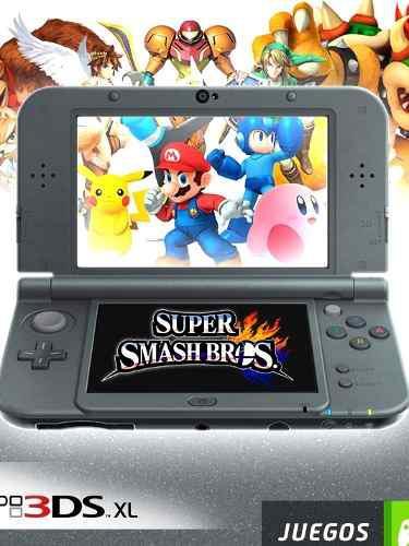 Nintendo new 3ds xl black 64 gb + 64 gb+ 50 juegos+cartucho