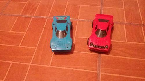 Carros scalextric lacia azul y rojo