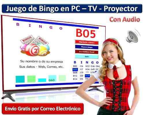 Juego de bingo en pc - voz, cartones y publicidad ver video