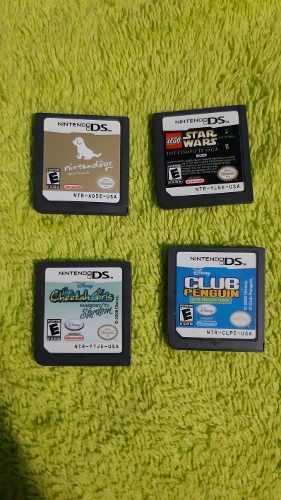Pack de 4 juegos nintendo ds baratos