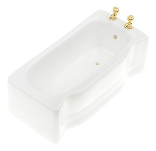 1/12 ceramic white triángulo baño bañera casa de muñecas