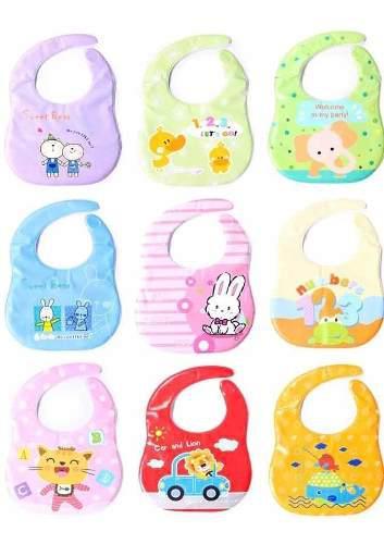3 baberos bebé tela impermeable animales suave fácil
