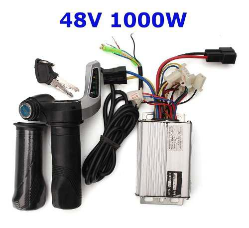 48v 1000w motor eléctrico cepillo controlador de velocidad