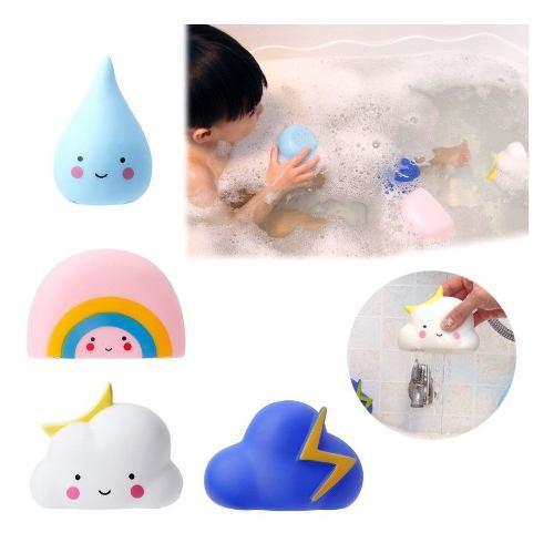 4pc bebé niños cuarto de baño de la nube de juego de agua