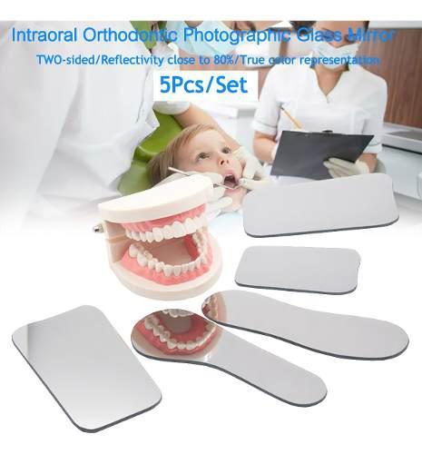 5 unids dental ortodoncia dental fotografía dental espejos