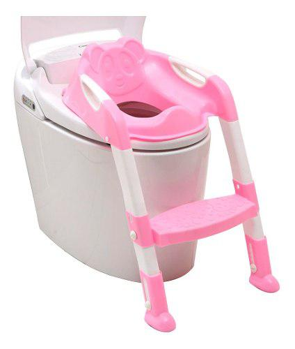 Asiento escalon para bebe entrenador de baño rosa b1012
