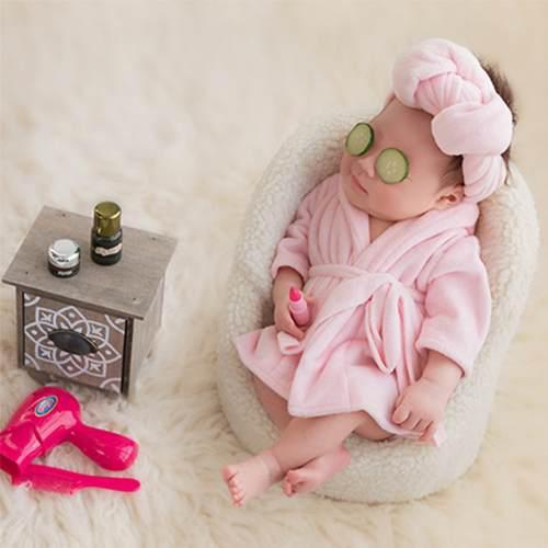 Bebé recién nacido regalo de navidad foto prop modelado