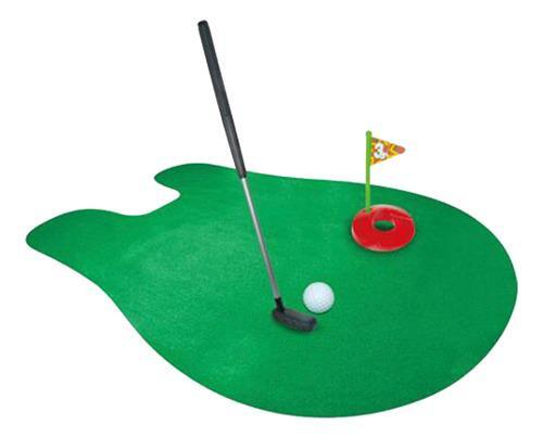 Juegos golf en baño orinal toilet golf potty putter set