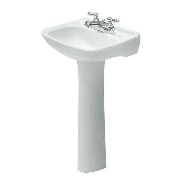 Lavabo blanco con pedestal marca orion (nuevo)