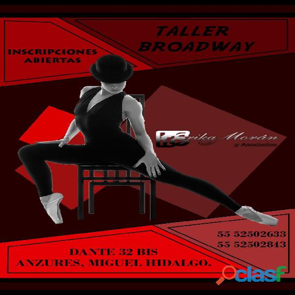 Cursos/clases comedia musical puesta en teatro canto baile actuación proyección