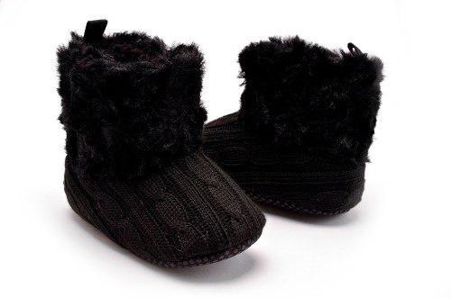 Botas para bebe tipo nieve, para niña, de lana
