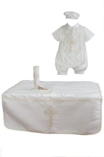 Juego de bautizo para niño mod. mauro - ropones celia