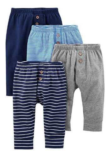 Pantalón carters niño 4 pzas tallas:prematuro a 24 meses