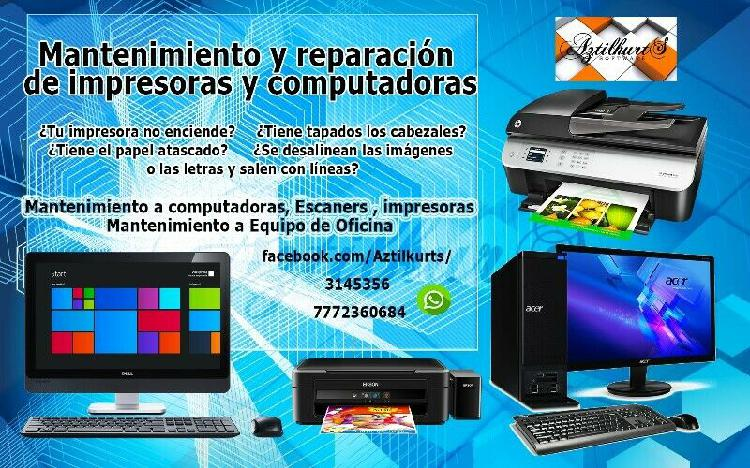 Reparación de computadoras y laptops e impresoras