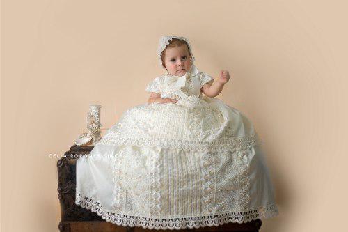Ropón bautizo desmontable niña mod. 372 f - ropones celia