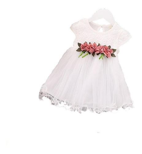 Vestido flores niña bebe moda 6 meses - 24 meses ropa