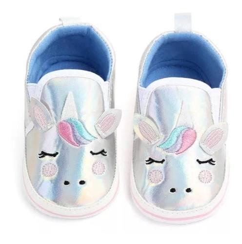 Zapatitos bebe niña unicornio hermosos zapatos