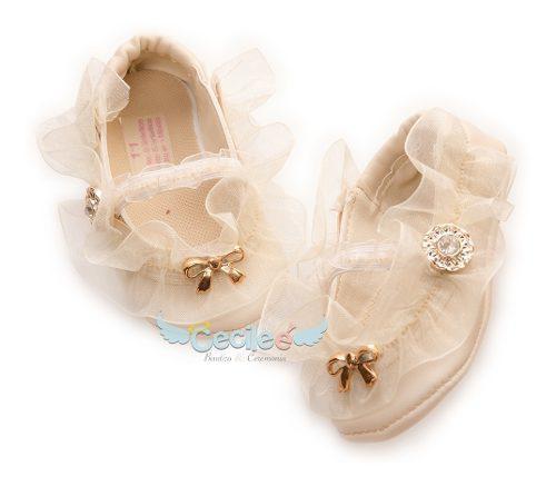 Zapatos bautizo bebe lujo ceremonia niñas 13-10