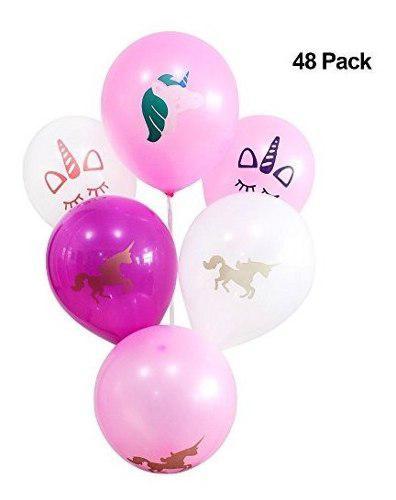 48 original unicornio globos de látex diseños únicos vari