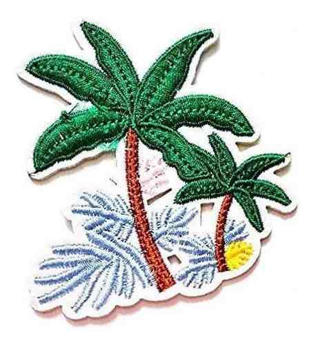 Nipitshop patches lindo diseno tropical palm tree beach esce