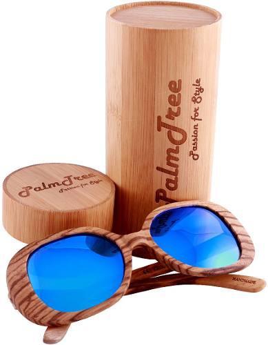Palmtree amazonian lentes de sol polarizados uv400 azul blue
