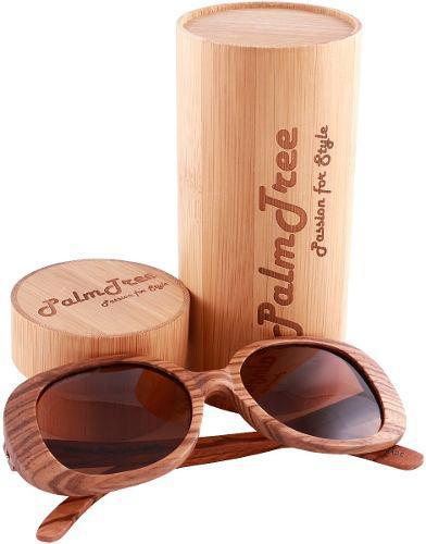 Palmtree amazonian lentes de sol polarizados uv400 cafe