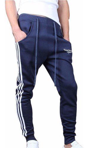 Pants baggy jogger marca top here con logo deportivo casual