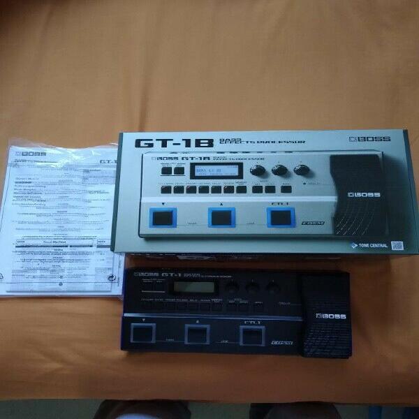 Procesador de efectos para bajo eléctrico boss gt-1b