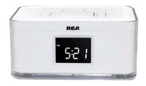 Radio reloj despertador doble alarma am/fm usb marca rca
