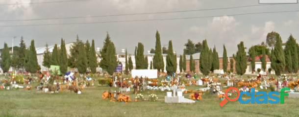 Fosa 2 gavetas 1 ataúd Parque Funerario El Edén Puebla
