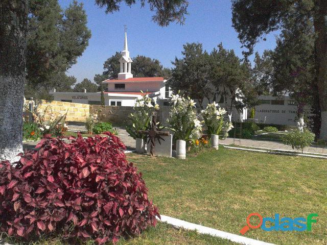 Jardín particular fosa 1 gaveta con servicios funerarios panteón ángeles tlaxcala
