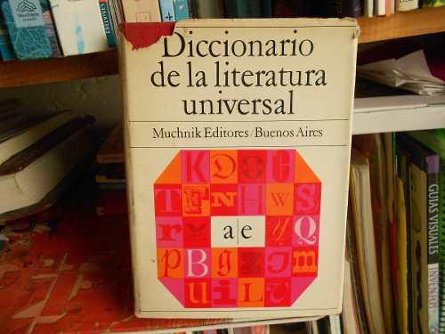 Diccionario de la literatura universal muchnik 3 tomos libro