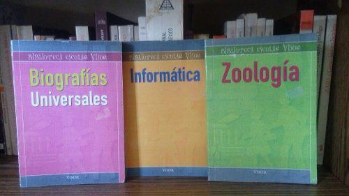 Enciclopedia biblioteca escolar visor, precio por los tres