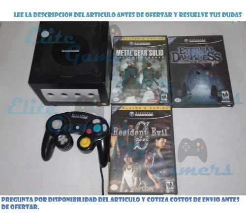 Gamecube 3 juegos metal gear, resident evil 0, eternal dark