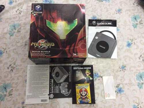 Gamecube edición metroid con controles accesorios y juegos