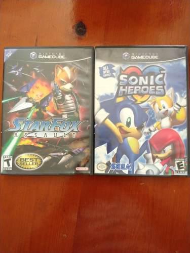 Juegos gamecube, sonic heroes, star fox assault