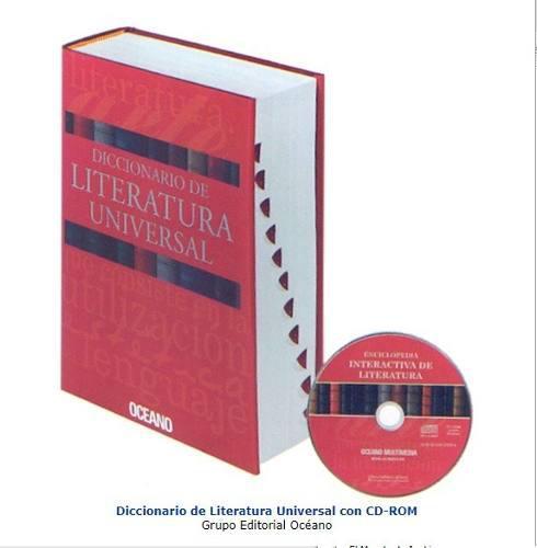 Libro diccionario de literatura universal 1 tomo oceano