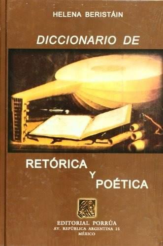 Libro diccionario de retorica y poetica (portada puede var