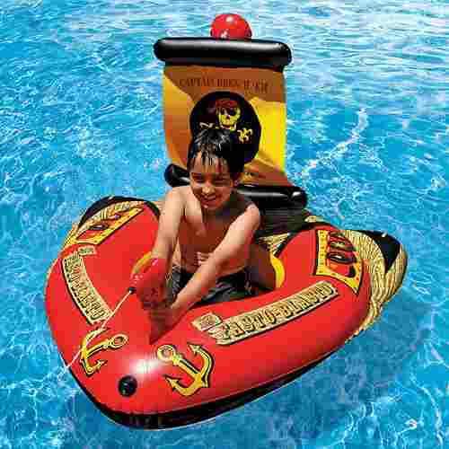 Niños inflable piscina juguete pirata barco flotador con
