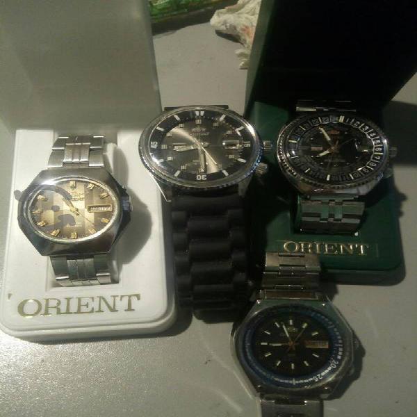 Cuatro relojes japoneses orient vintage