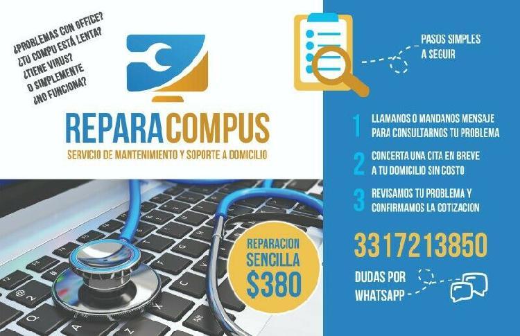 Reparación de software y computadoras